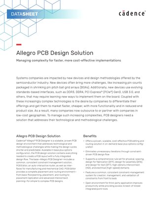 Allegro PCB Design Solution