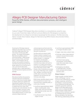 Allegro PCB Manufacturing