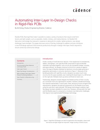 Automating Inter-Layer In-Design Checks in Rigid-Flex PCBs