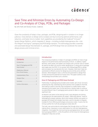 Save Time and Minimize Errors by Automating Co-Design and Co-Analysis of Chips, Boards, and Packages