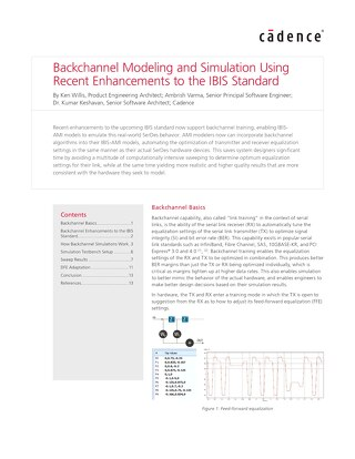 Backchannel Modeling and Simulation Using Recent Enhancements to the IBIS Standard
