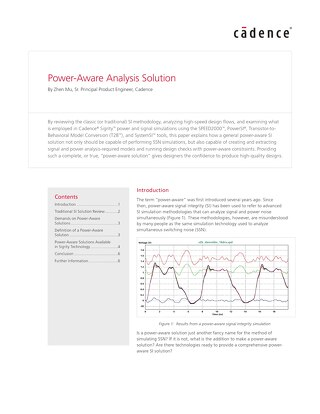Power-Aware Analysis Solution