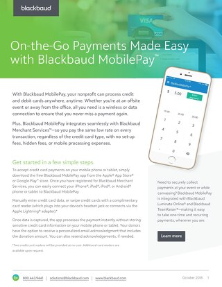 DATA SHEET: Blackbaud MobilePay