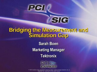 Bridging the Measurement and Simulation Gap
