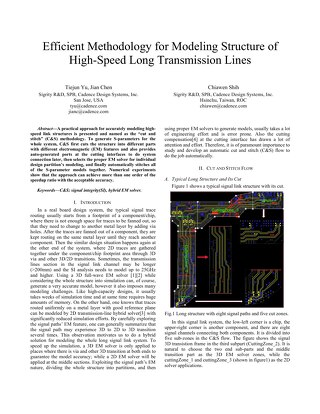 Effecient Methodology for Modeling Structure of High Speed Long Transmisison Lines