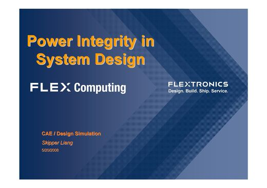 Power Integrity in System Design