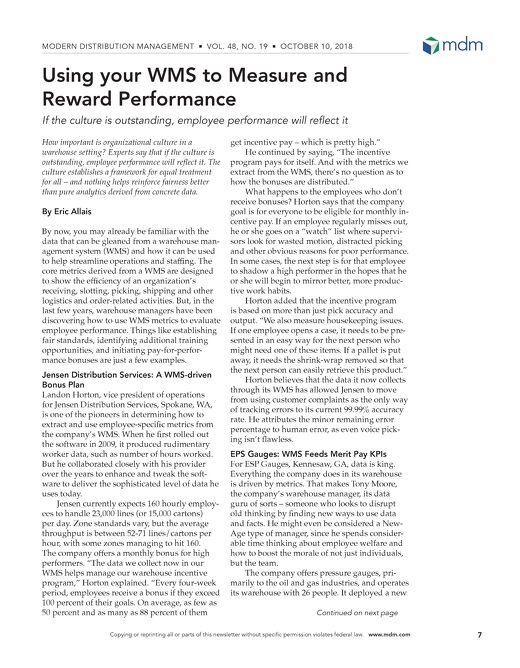 MDM Picks Up Manage by Metrics Article