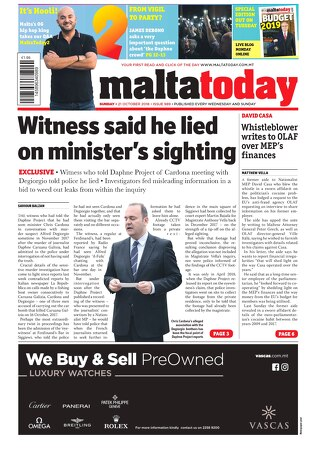 MALTATODAY 21 October 2018