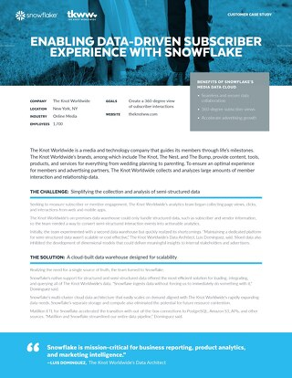 XO Group Case Study: Enabling Data-Driven Member Engagement with Snowflake