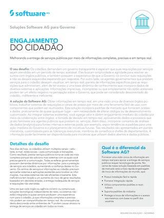 Soluções Software AG para Governo: Engajamento do Cidadão