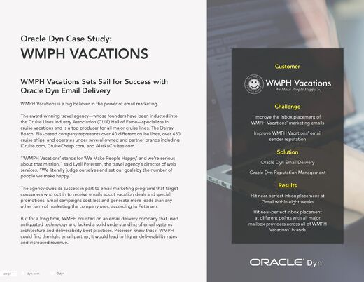 Case Study: WMPH Vacations
