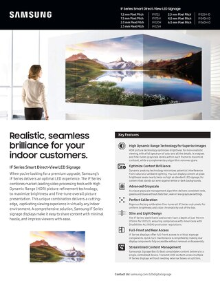 Samsung IF Series Smart Direct-View LED Signage