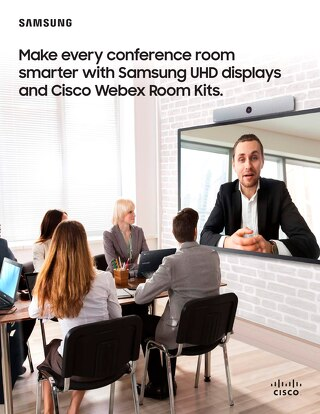 Samsung UHD Displays and Cisco Webex Room Kits