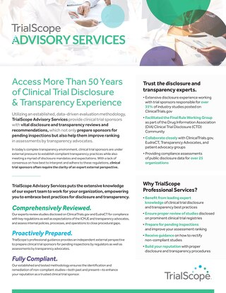 TrialScope Advisory Services Overview