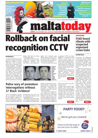 MALTATODAY 25 November 2018