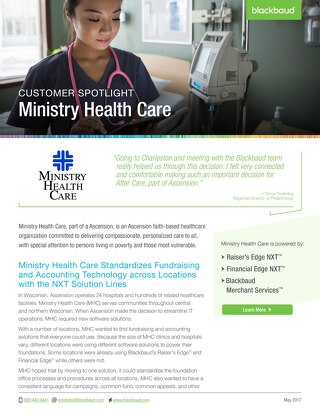 Ministry Health Care Customer Story