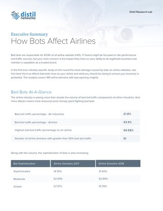 Executive Summary Airline Industry Report