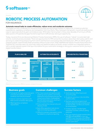 Robotic Process Automation for Insurance