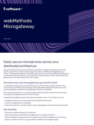 Facts about webMethods Microgateway
