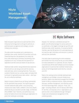 Nlyte Workload Asset Management Solution Brief