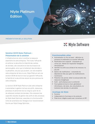 Nlyte Platinum Solution Brief (French Translation)