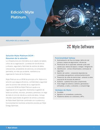 Nlyte Platinum Product Overview (Spanish Translation)