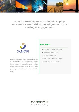 Case Study: Sanofi and Sustainable Supply Chain Success