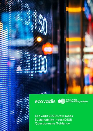 Whitepaper: EcoVadis' Dow Jones Sustainability Index Questionnaire Guidance 2020