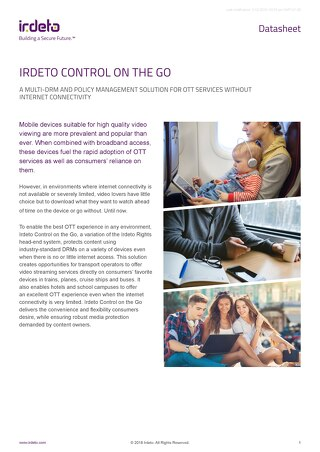 Datasheet: Irdeto Control on the Go