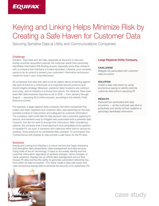 Keying and Linking Case Study