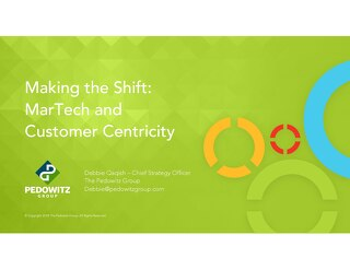 Webinar Slides: MarTech and Customer Centricity - Make the Shift Happen