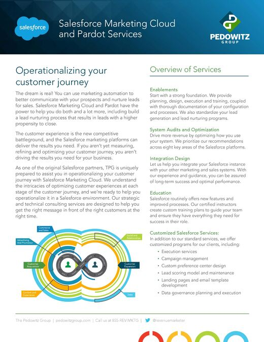 Salesforce Marketing Cloud and Pardot Services