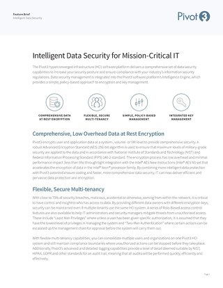 [Feature Brief] Pivot3 Intelligent Data Security