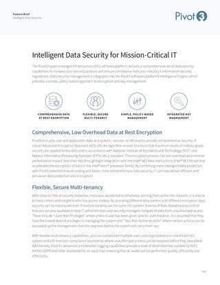 [Feature Brief] Pivot3 Intelligent Data Security