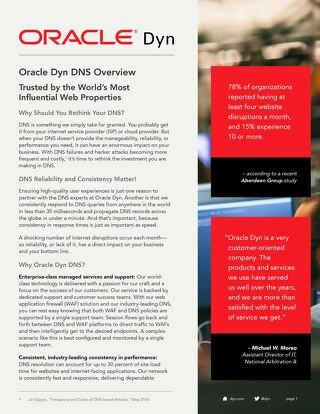 Oracle Dyn DNS Overview