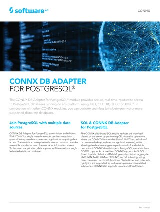 CONNX DB Adapter for PostgreSQL®