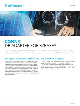 CONNX DB Adapter for Sybase®