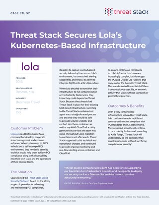 Threat Stack Secures Lola's Kubernetes-Based Infrastructure