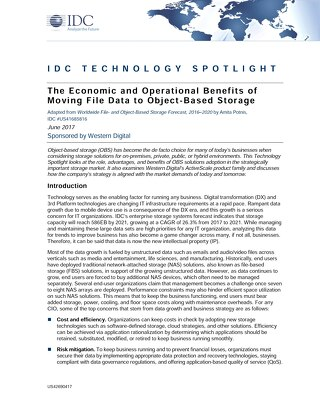 The Economic and Operational of Moving to Object-Based Storage