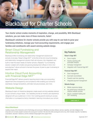Blackbaud for Charter Schools
