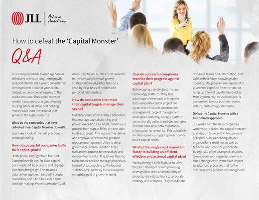 Capital planning Q+A