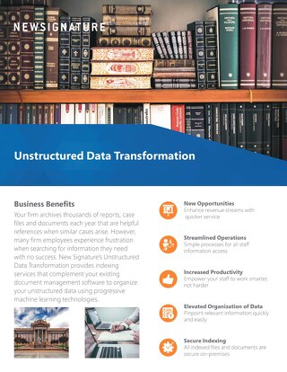 Unstructured Data Transformation Flyer 2018