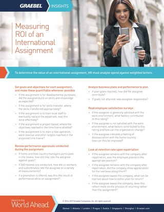 Measuring ROI of an International Assignment