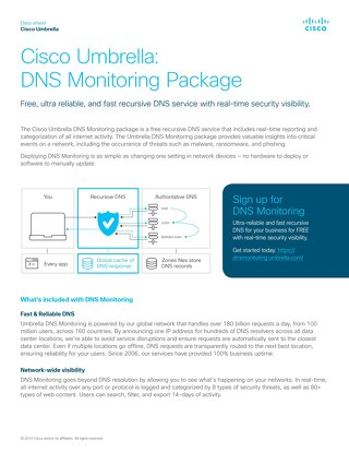 Umbrella: DNS Monitoring Package