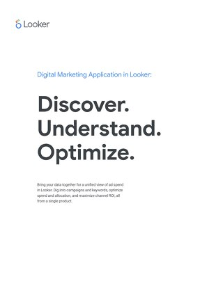 Looker's application for digital marketing