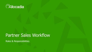 Allocadia Partner Sales Introduction