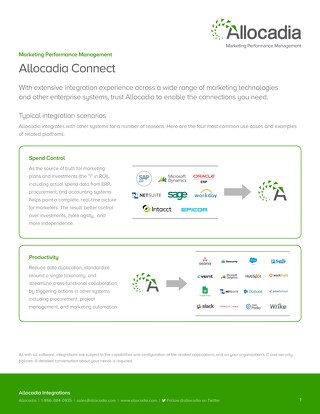 Allocadia Connect