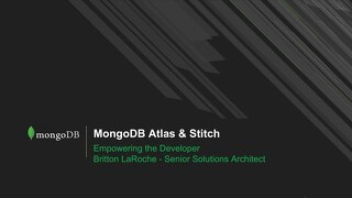 Atlas & Stitch Empowering the Developer