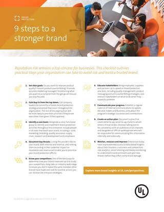 Checklist: Essential elements of a brand protection strategy