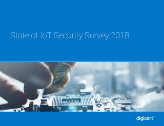 State of IoT Security Survey 2018
